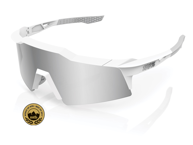 100% Speedcraft XS - Hiper Mirror Lense - matte white