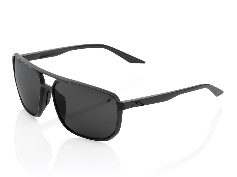 100% Konnor Aviator - Mirror Lense  - matte black